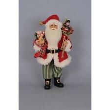 Christmas Vintage Green Santa Figurine