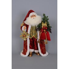 Christmas Lighted Traditional Santa Figurine with Tassels