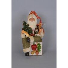 Christmas Lighted Tuscan Cuisine Santa Figurine
