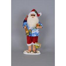 Christmas Margarita Beach Santa Figurine
