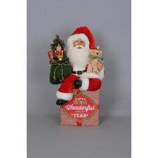 Christmas Lighted Wonderful Traditional Santa Figurine