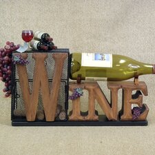 Classic Home 1 Bottle Tabletop Cork Cage Wine Rack