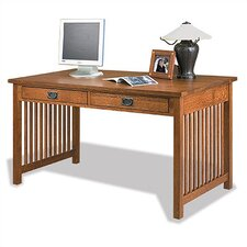 Craftsman Home Office Writing Desk with 2 Drawer