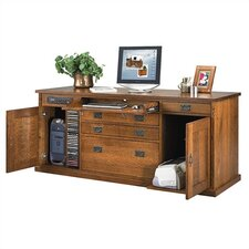 "Craftsman Home Office 72"" W Office Credenza"