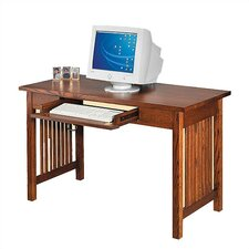"""Craftsman Home Office 50"""" W Single Drawer Library Computer Desk"""