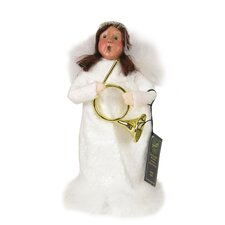 Angel Girl with Horn Figurine