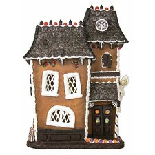 Lighted Haunted Halloween Gingerbread House