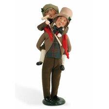 Bob Cratchit and Tiny Tim Figurine