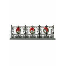 Wrought Iron Fence Christmas Decoration
