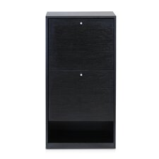 B&W 3-Tier 2-Door Shoe Storage Cabinet