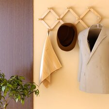Pine Solid Wood Retractable Wall Mounted Coat Rack