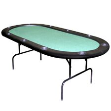 "82.5"" Texas Holdem Felt Poker Table"