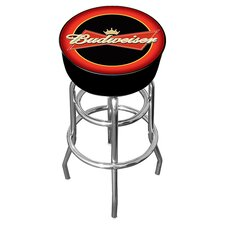 "Budweiser 31"" Swivel Bar Stool with Cushion"