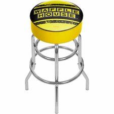 "Waffle House 31"" Swivel Bar Stool with Cushion"
