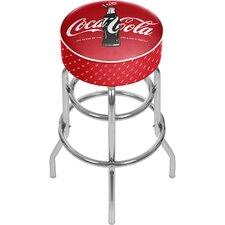 "Coca Cola 31"" Swivel Bar Stool with Cushion"