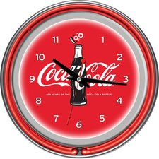"Coca-Cola 100th Anniversary 14.5"" Neon Wall Clock"