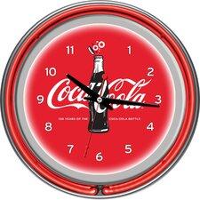 """Coca-Cola 100th Anniversary 14.5"""" Neon Wall Clock"""