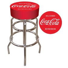 "Coca Cola 31"" Swivel Bar Stool with Cushion"