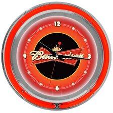 "Budweiser 14"" Double Ring Wall Clock"