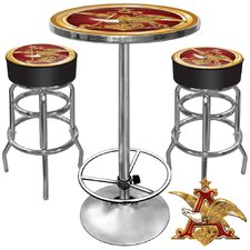 Ultimate A and Eagle Game Room 3 Piece Pub Table Set