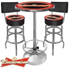 Budweiser 3 Piece Pub Table Set