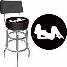 "31"" Swivel Bar Stool with Cushion"