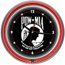 """POW 14"""" Double Ring Wall Clock"""