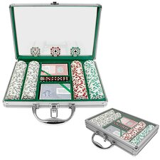 High Roller Set with Clear Cover Aluminum Case
