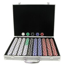 Dice-Striped Chips in Aluminum Case