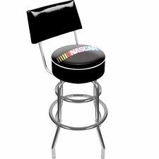 "NASCAR 31"" Swivel Bar Stool with Cushion"