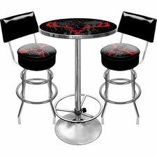 Hunt Skull Game Room 3 Piece Pub Table Set