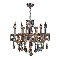Catherine 5 Light Crystal Chandelier