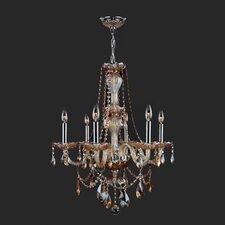 Provence 6 Light  Crystal Chandelier