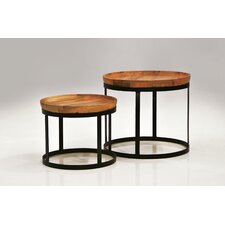 Olive 2 Piece End Table Set
