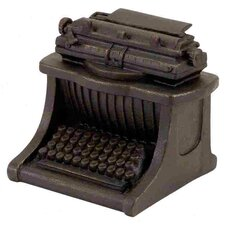 Polystone Typewriter Decor Sculpture