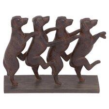 Classic Lexington Standing Dogs Décor Figurine