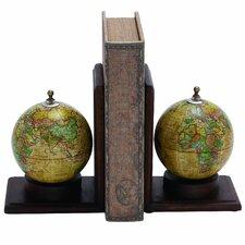 Contemporary Globe Book Ends (Set of 2)