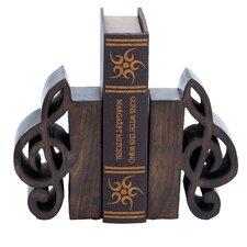 Musical Clef Book Ends (Set of 2)