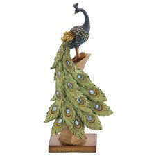 Peacock Table Decor Figurine by Woodland Imports
