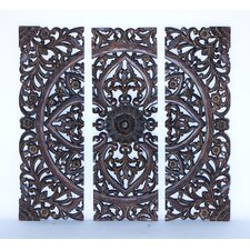 3 Piece Modern Wood Panel Wall Decor Set