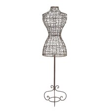 Statuesque Metal Clothes Mannequin