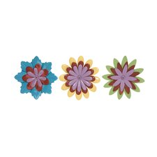 3 Piece Beautiful and Adorable Flower Wall Decor Set