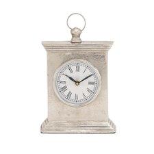 Antique Styled Aluminum Table Clock