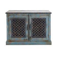 The Charming Wood Pierced Door Cabinet