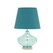 "Glass Chrome 27"" H Table Lamp with Empire Shade"