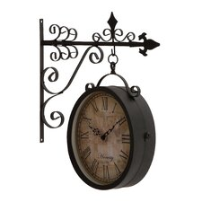 Artistic and Antique Themed Double Sided Wall Clock