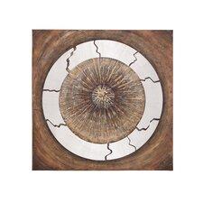 The Astute Wood Metal Canvas in Brown
