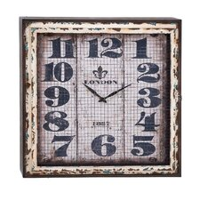 Intentionally Aged Metal Wall Clock