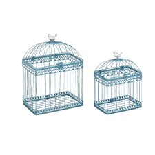 2 Piece Adorable and Unique Bird Cage Set