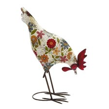 Attractive Cool Metal Rooster Figurine